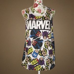 Marvel XL Sleeveless Top | Captain America Thor